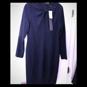 Black Halo Blue  Aerin Sheath Dress